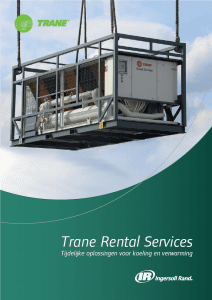 Trane Rental Services brochure